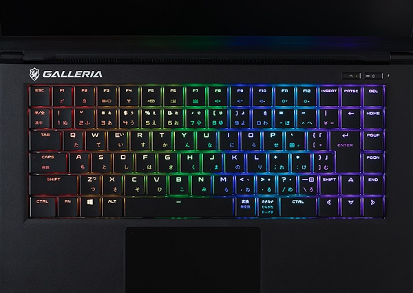 GALLERIA GCR1660TGF-QC-keyboard