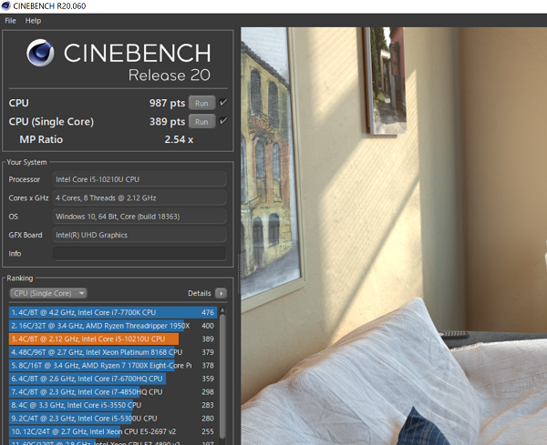 mouse-X4-i5cinebench